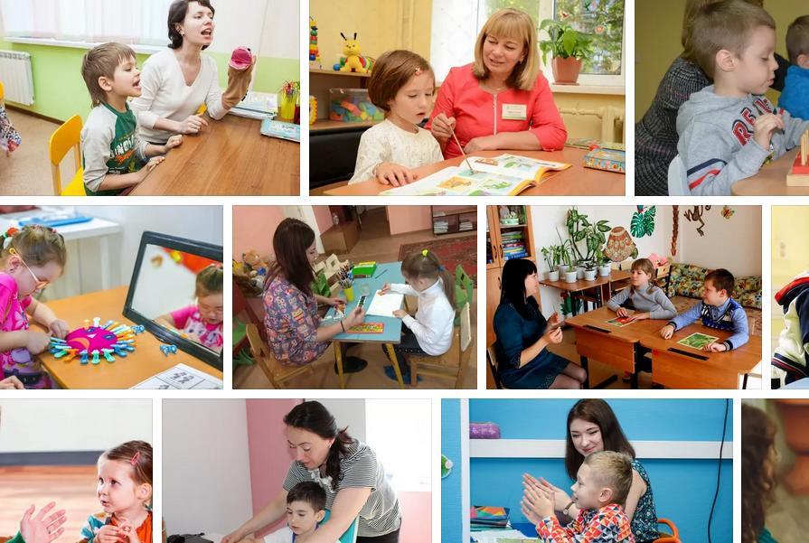 В Ростове занятия дефектолога с ребенком